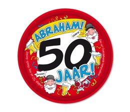 Abraham 50 jaar.  Dienblad Abraham