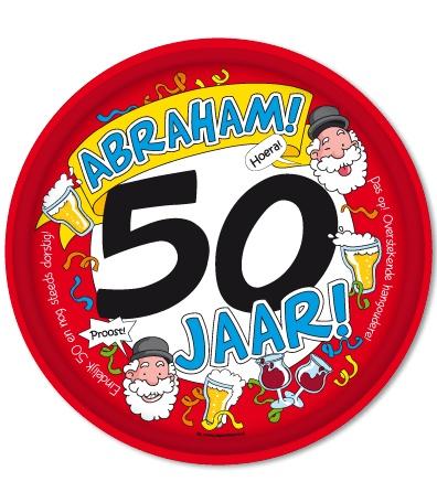 Fabulous Abraham 50 jaar. Dienblad Abraham - Cadeauwarenshop.nl YF-38