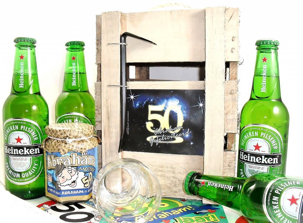 heineken 50 jaar Voor ieder budget een leuk Abraham bierpakket   Cadeauwarenshop.nl heineken 50 jaar