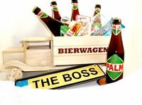 Cadeautip voor hem. Voor ieder budget een leuk en origineel houten bierwagen bierpakket.