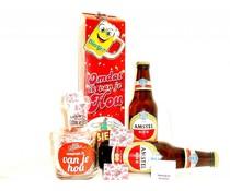 Cadeautips Bierpakket Amstel + Minibierglas