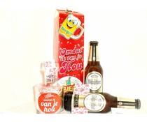 Cadeautips Bierpakket Warsteiner + Minibierglas