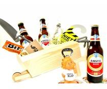 Cadeautips Bierpakket Amstel Kruiwagen