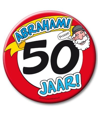 50 jaar abraham Abraham 50 jaar. XL Button   Abraham   Cadeauwarenshop.nl 50 jaar abraham