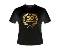 Abraham 50 jaar. Gouden Krans T-Shirts - Abraham