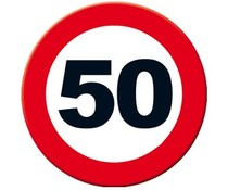 Abraham 50 jaar. Big Sign - 50