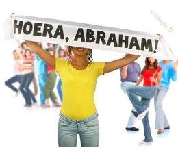 Abraham 50 jaar. Spandoek - Hoera, Abraham!