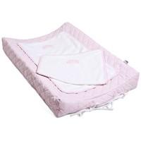 Aankleedkussenhoes roze / wit
