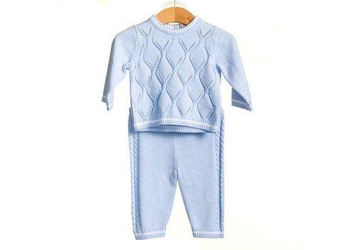 Licht blauwe set: broek met top