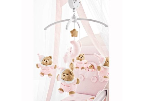 Nanan Puccio roze muziekmobiel
