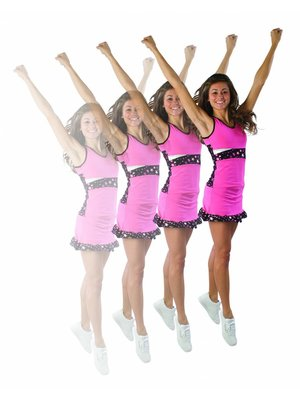 Pizzazz Superstar cheer rokje roze