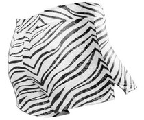 Pizzazz Zebra glitter cheer short zwart/wit