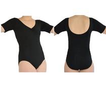 Dansgirl Balletpakje korte mouw zwart