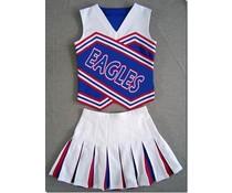Cheerleader Uniform (rood/wit/blauw)