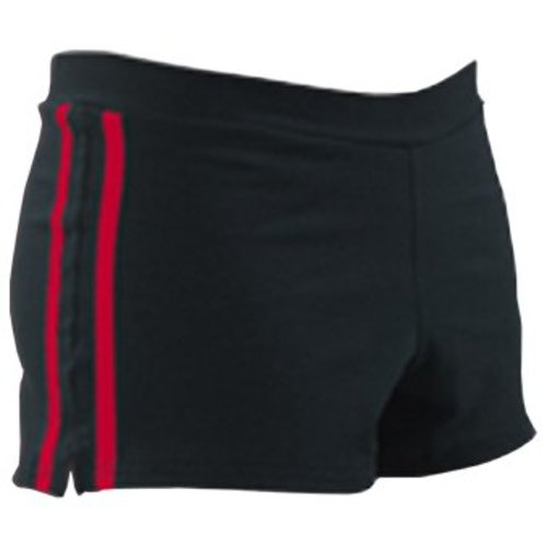 Pizzazz Cheer sport short zwart/rood
