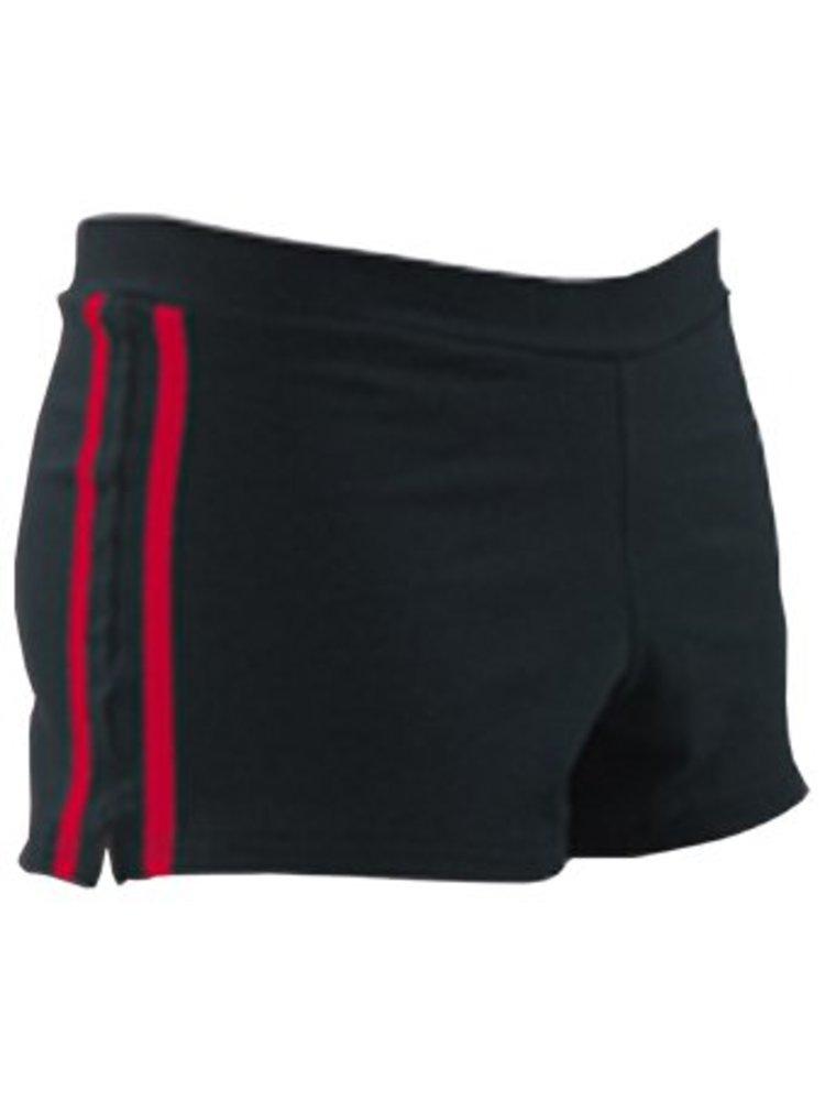 Pizzazz Cheer sport short zwart/rood