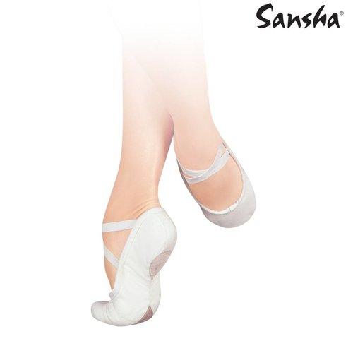 Sansha Balletschoenen Pro 1C wit splitzool