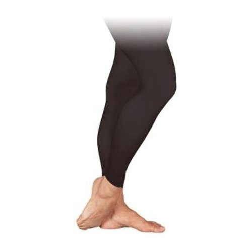 Sansha Zwarte ballet panty zonder voet