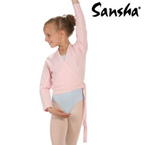 Sansha Roze balletvestje Candy wikkel model
