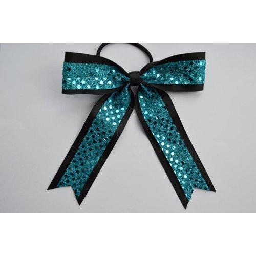Cheerleader haarstrik turquoise