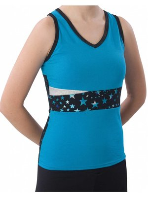 Pizzazz Superstar cheer top turquoise