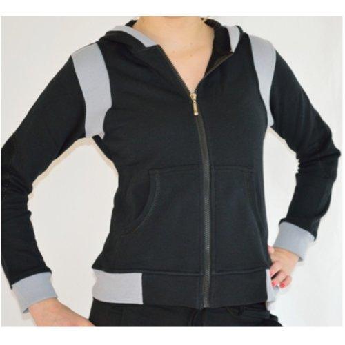 Dansgirl Sportvest dames zwart met grijs