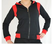 Dansgirl Sportvest dames zwart met rood