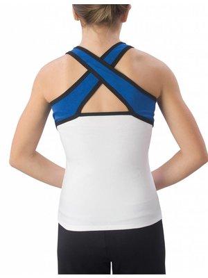 Pizzazz Cheerleader set top + rok blauw