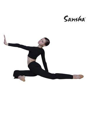 Sansha Signature Dames jazzbroek Jade zwart