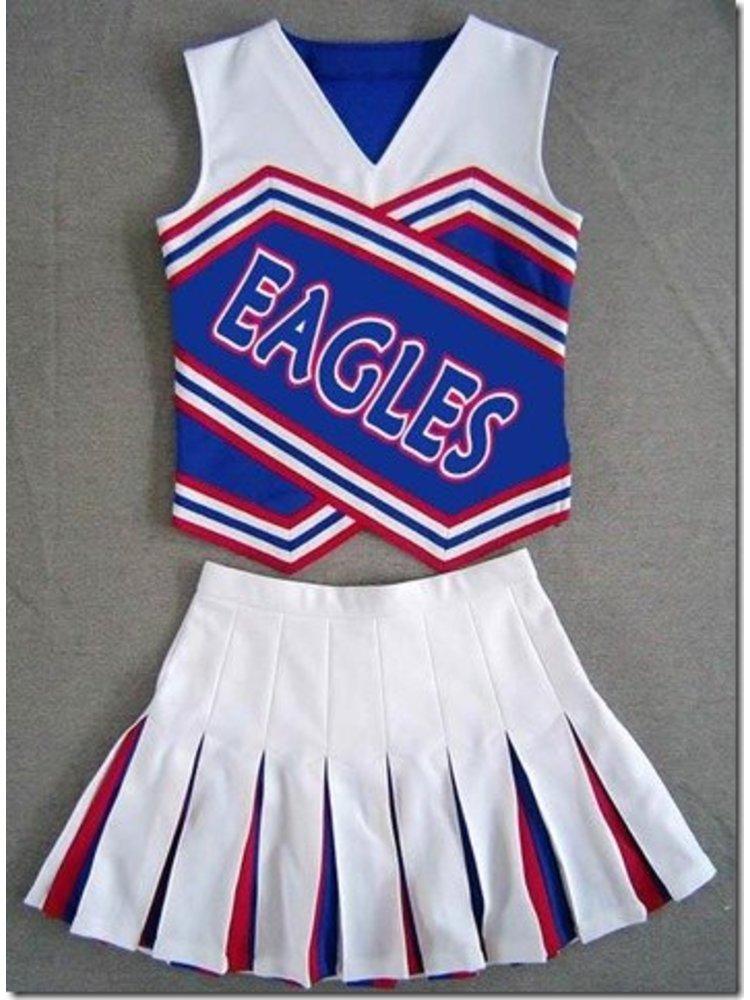 Cheerleader Uniform (rood/zwart/wit)