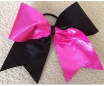 Grote stevige Cheer bow roze