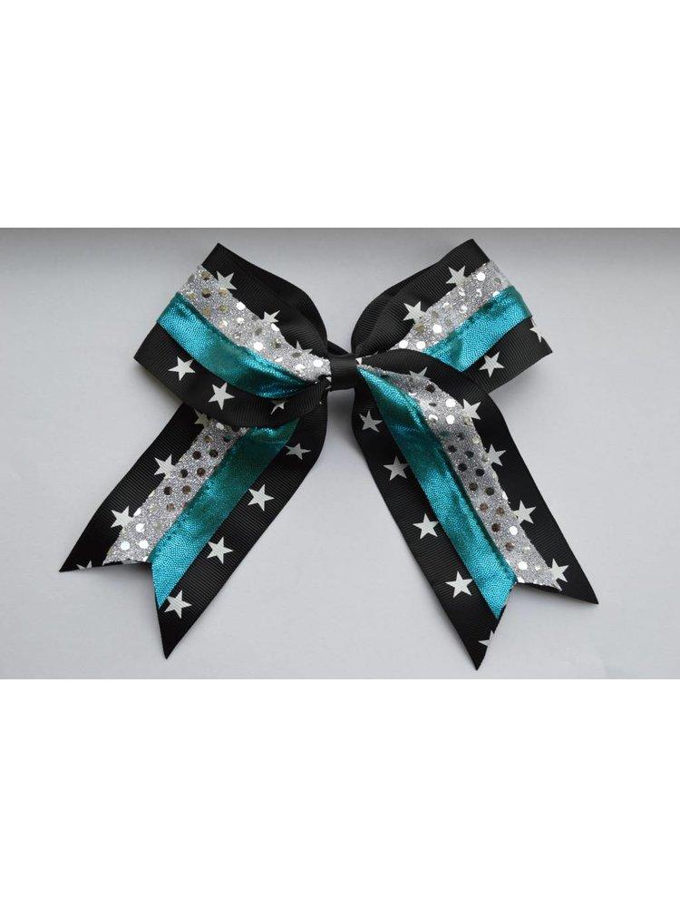 Cheerleader haarstrik metallic star