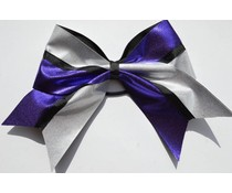 Grote Cheer bow paars/zilver