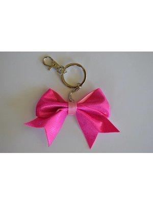 Sleutelhanger Cheer bow roze