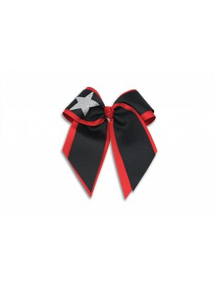Pizzazz Cheerleader Hairbow zwart/rood