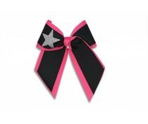 Pizzazz Cheerleader Hairbow zwart/roze