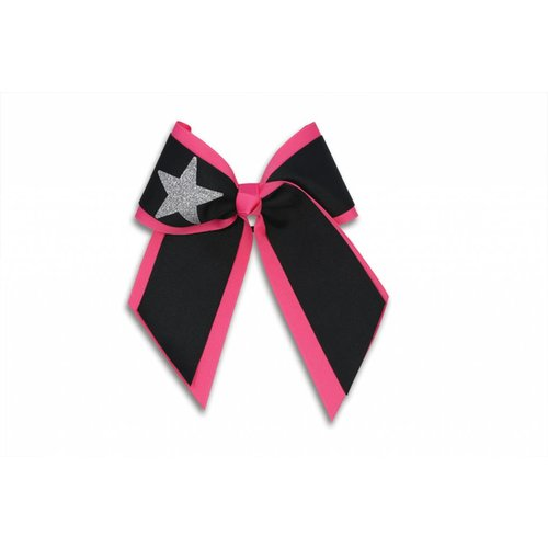 Pizzazz Cheerleader Hairbow zwart/roze