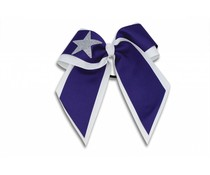 Pizzazz Cheerleader Hairbow wit/paars