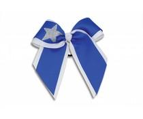 Pizzazz Cheerleader Hairbow wit/blauw