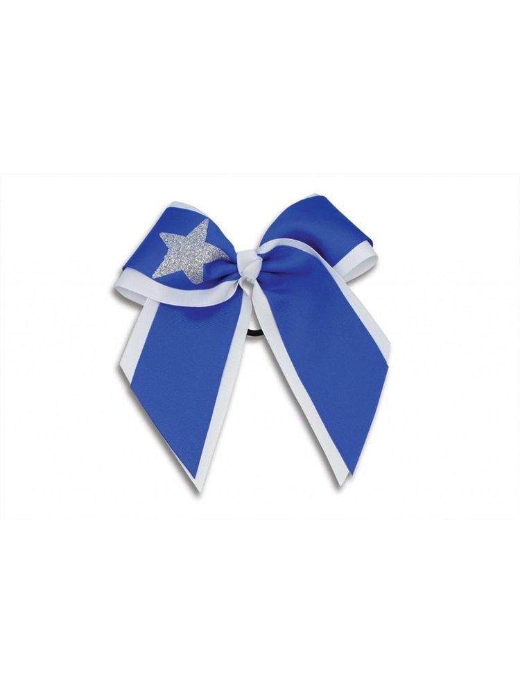 Pizzazz Cheerleader haarstrik wit/blauw