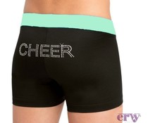 Ervy Cheer short strass zwart/mint kinder