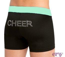 Ervy Cheer short strass zwart/mint kinder
