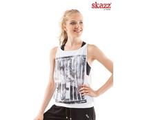Skazz Urban Dance top wit/grijs