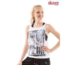 Skazz Urban Dance top wit//grijs