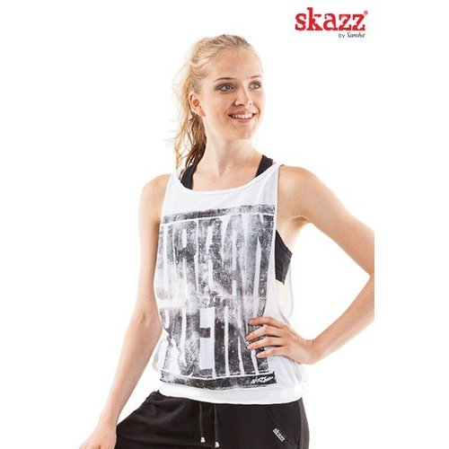 Skazz Urban Dance top wit/grijs