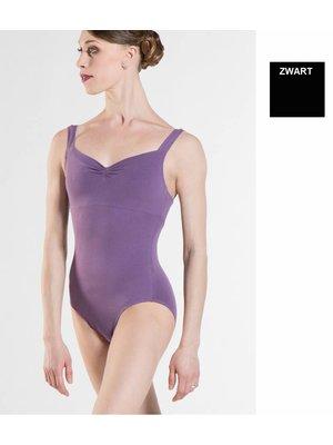 Wear Moi Zwart balletpakje met brede bandjes Mabel