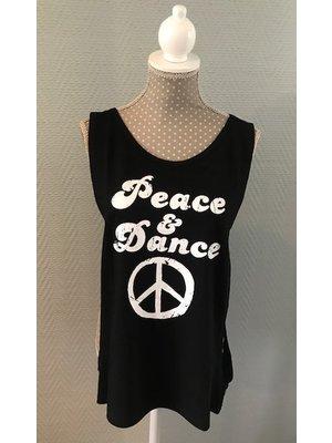 Skazz Danstop Peace en Dance Zwart