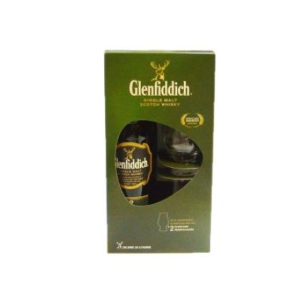 Glenfiddich 12Y + 2 glasses - 70cl