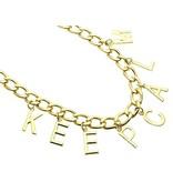 MT Randy Bleib 'ruhig Halskette Gold