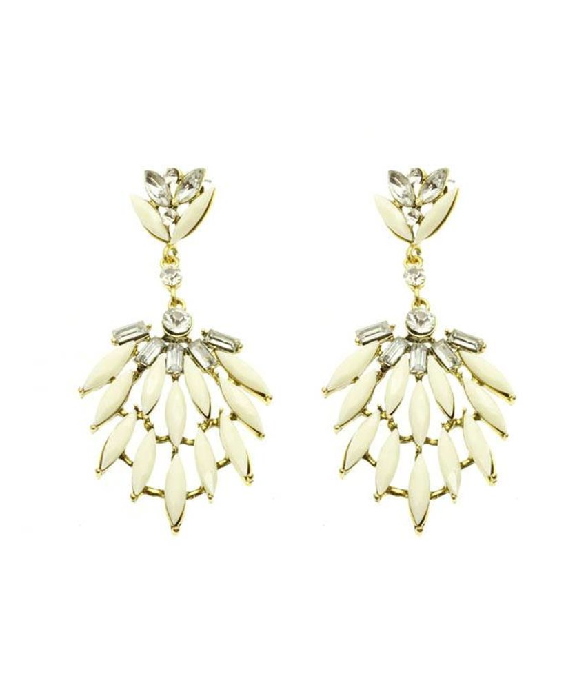 MT Romero Earrings White